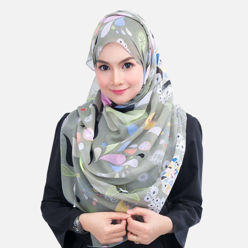 بستن روسری چهار گوش لبنانی 6 Koleksi Hijab Paling Praktikal & Wajib Ada Buat Hijabi Berwajah Bulat & Pipi 'Chubby' - Hijabista