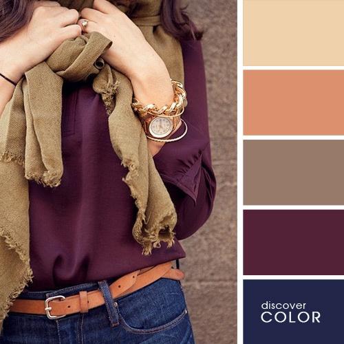 Padanan Warna Purple Gelap Terutama Untuk Baju